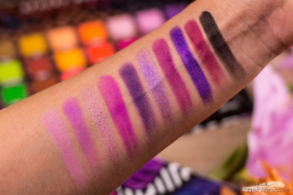 bPerfect Love Tahiti Palette Swatches pink violet