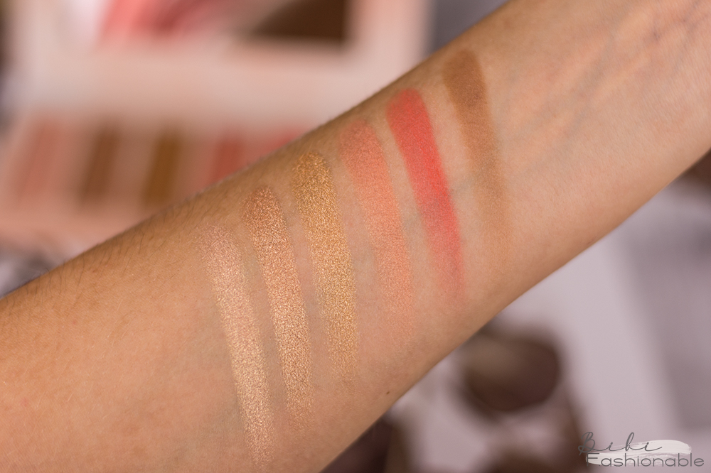 bh cosmetics Ana Kohler Face Palette Swatches