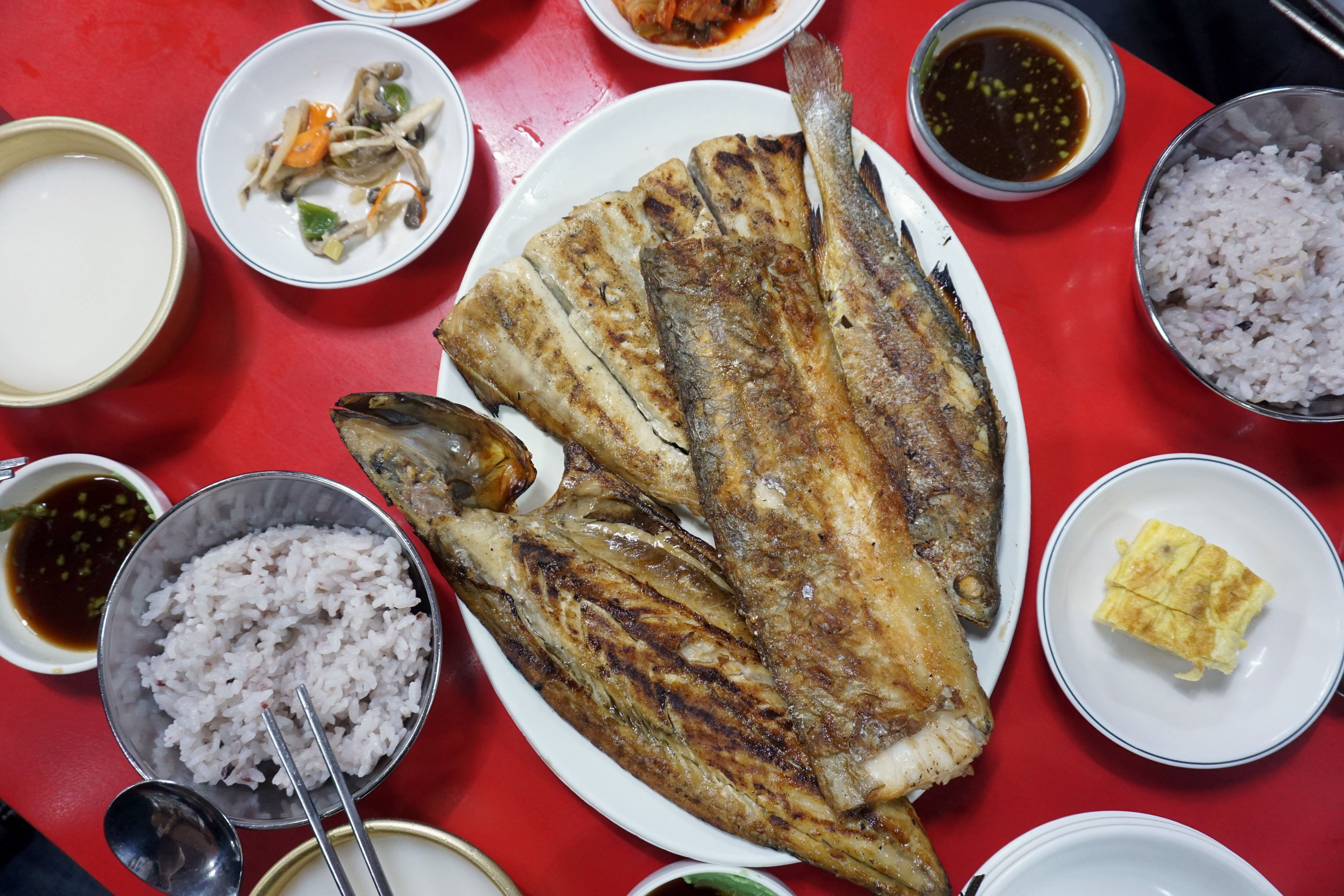 Grilled fish meal