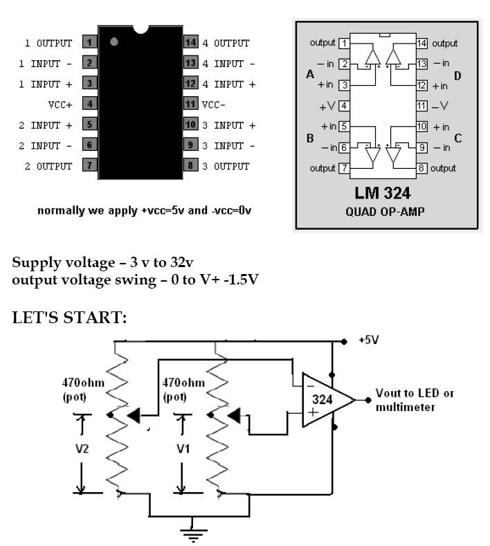Lm324 Comparator Circuits