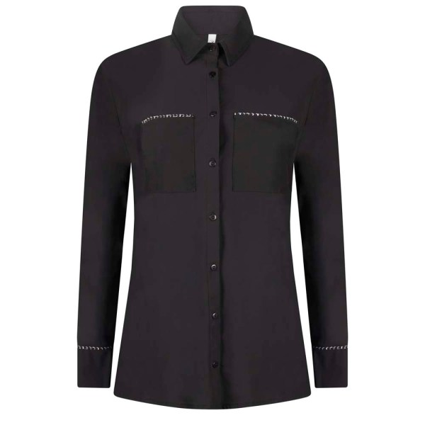 215Vera Travel Blouse With Pipping