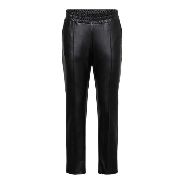 Holly PU Jogger Pants Black