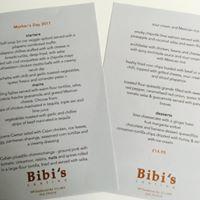 Mother's day menu at Bibi's Cantina Glasgow