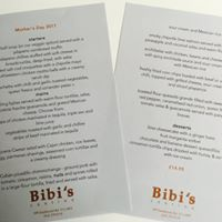 Mother's day menu at Bibi's Cantina Glasgow