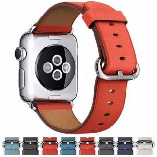 Bracelet Apple Watch Luxury design Cuir véritable