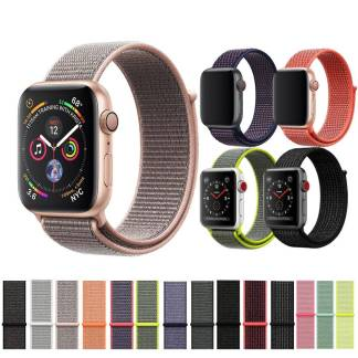 Boucle Sport Apple Watch Nylon Fermeture Scratch