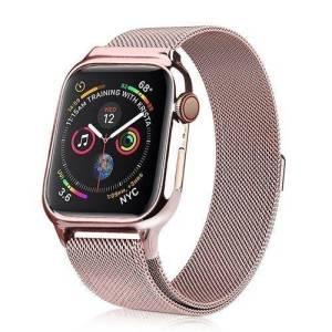 Bracelet milanais Apple Watch avec coque de protection