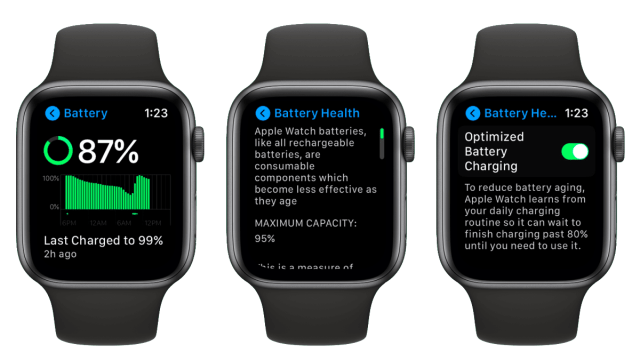 Comment vérifier l'état de la batterie de votre Apple Watch