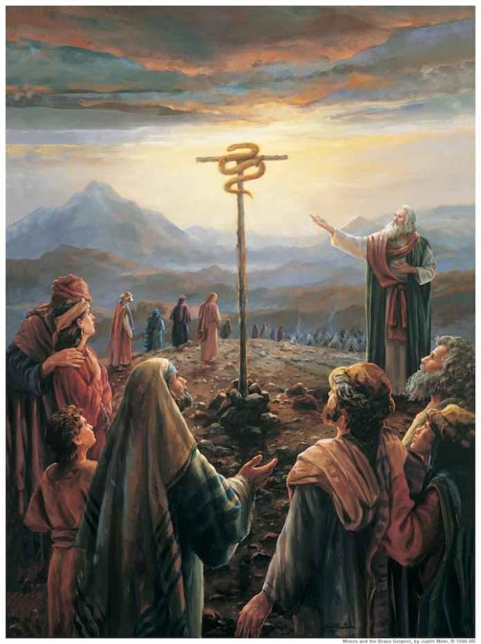 Медный змей, прообраз Христа