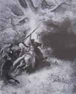Gravure Gustave Doré la Bible Ancien Testament Mort d'Absalom