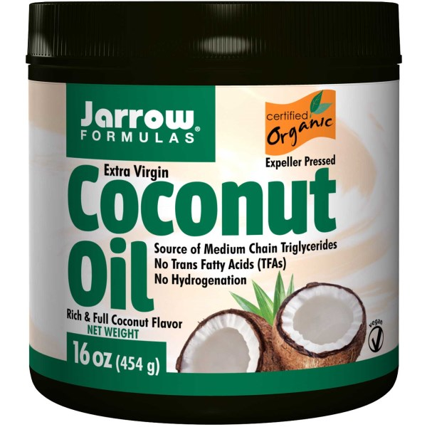 Jarrow Formulas, オーガニック、エキストラバージンココナッツオイル、16 oz (473 g)