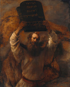Moses with the 10 Commandments by Rembrandt