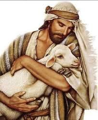 Jesus carrying a lamb