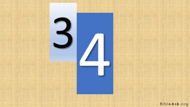 three and four