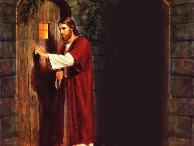 stand at the door and knock jesus