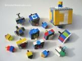 DIY LEGO dreidels in progress