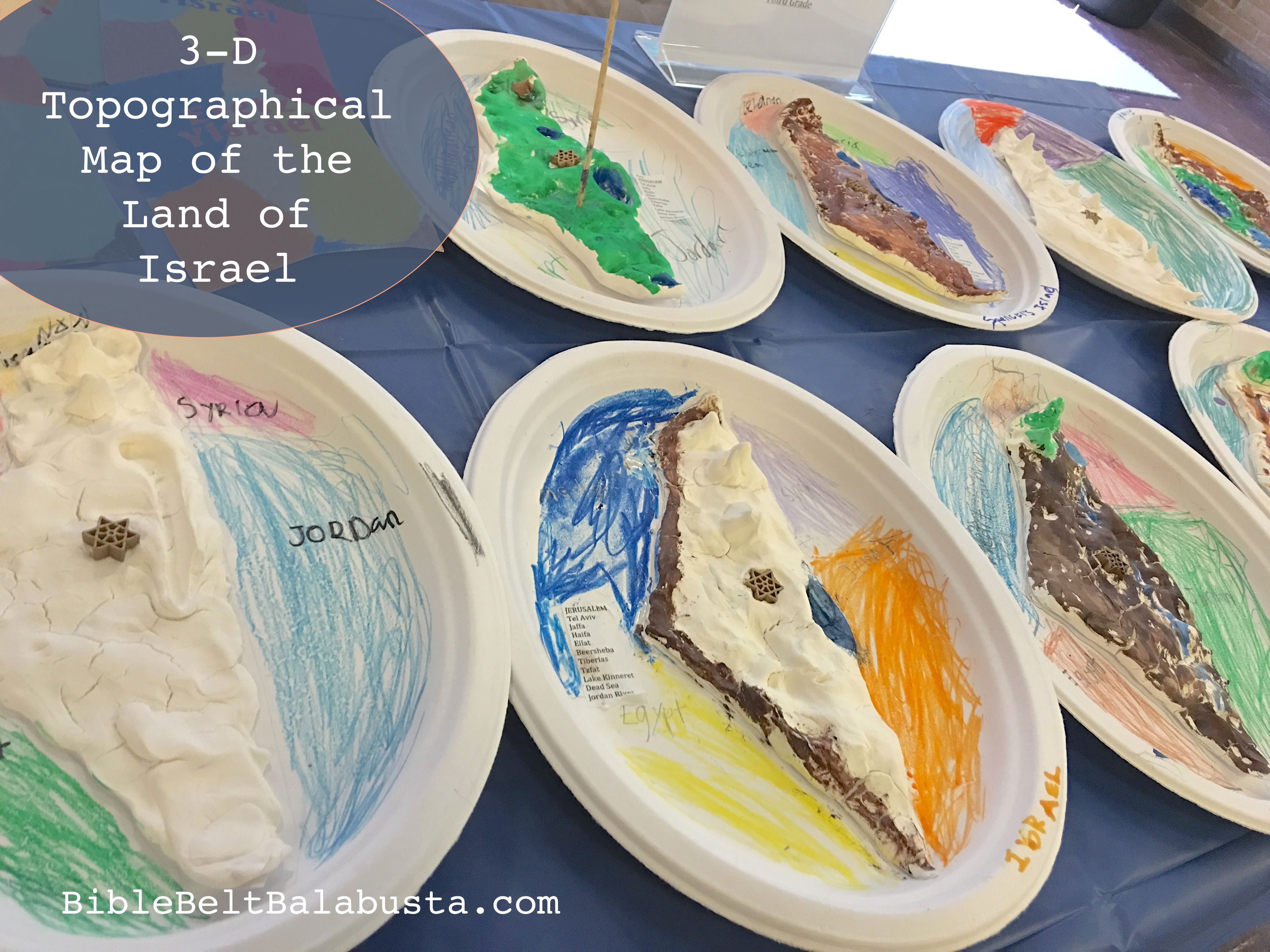 3 D Clay Topographical Maps Of Israel