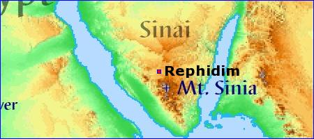 Image result for map of the battle at rephidim