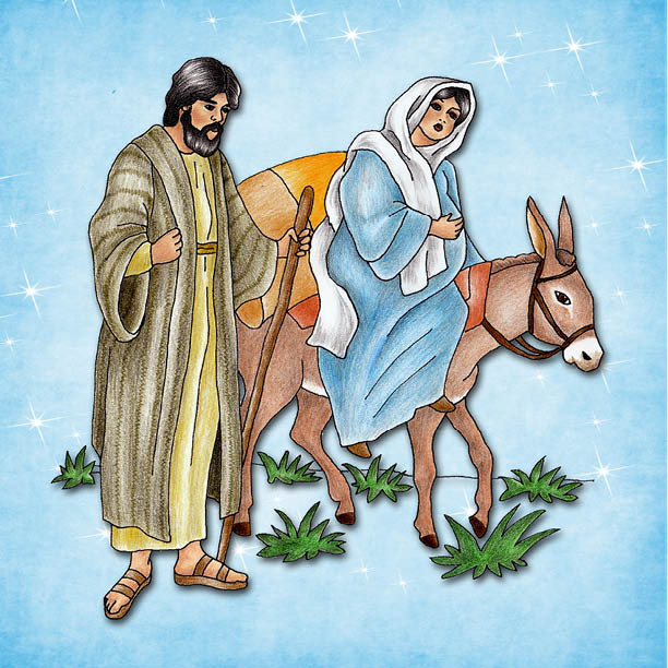 Mary Joseph Travel To Bethlehem Bible Bites 4 Teens