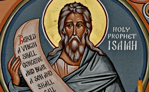 пророк Исаия со свитком