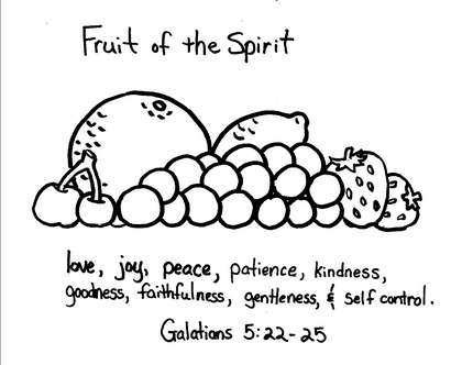Fruit of the Spirit «Sunday School Craft Corner Sunday