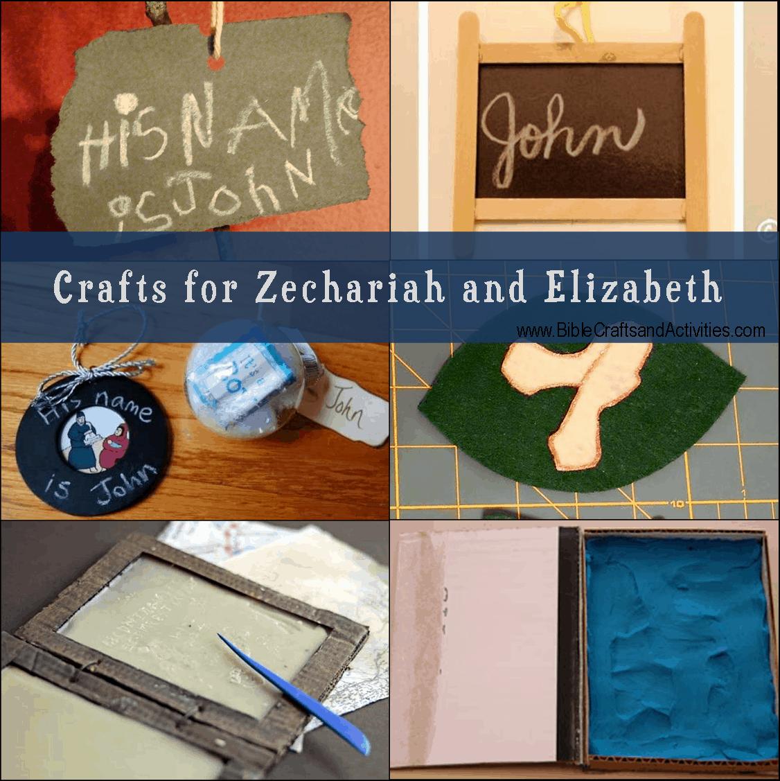 Crafts For Zechariah And Elizabeth