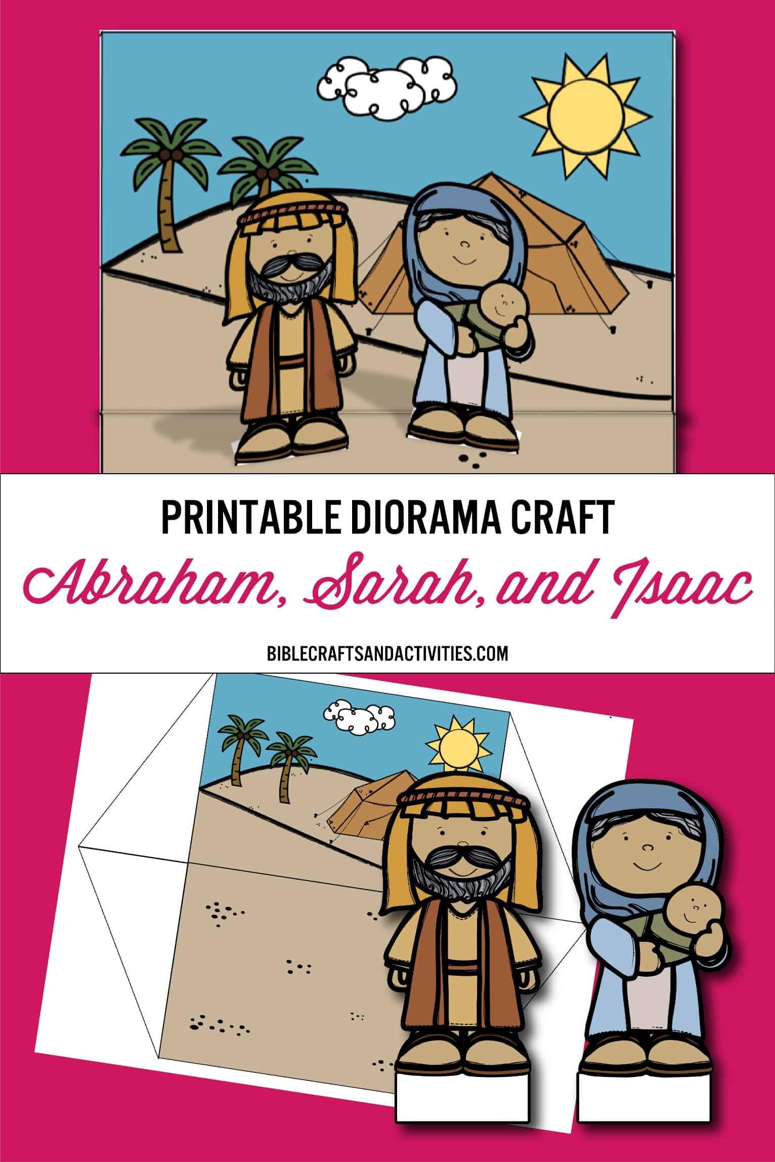Pinterest Printable Diorama Craft Abraham Sarah Isaac