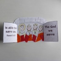 Fiery Furnace Door Craft - Bible Crafts by Jenny