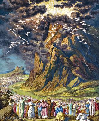 Image result for god on mount sinai