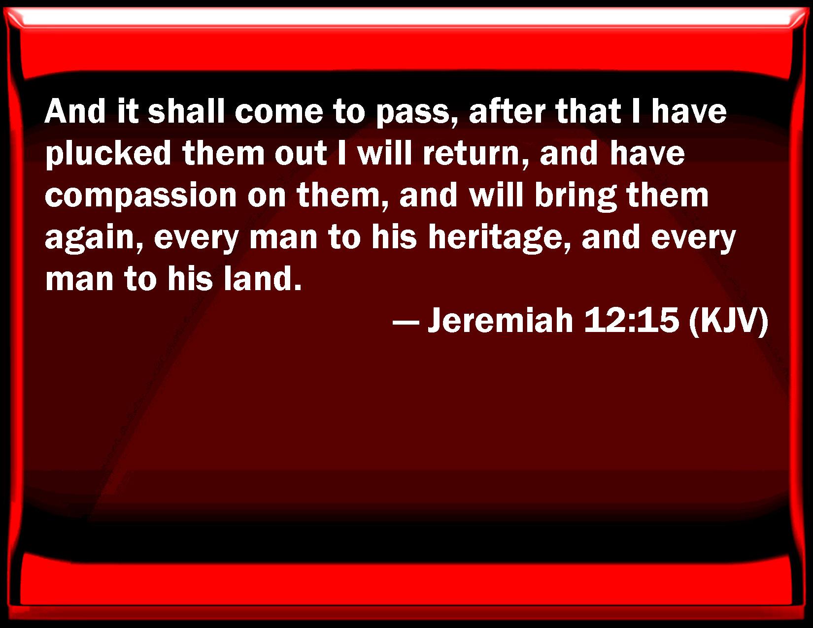 Kuvahaun tulos haulle Jeremiah 12:15
