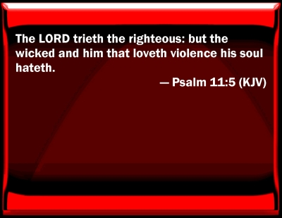 Image result for Psalm 11:5