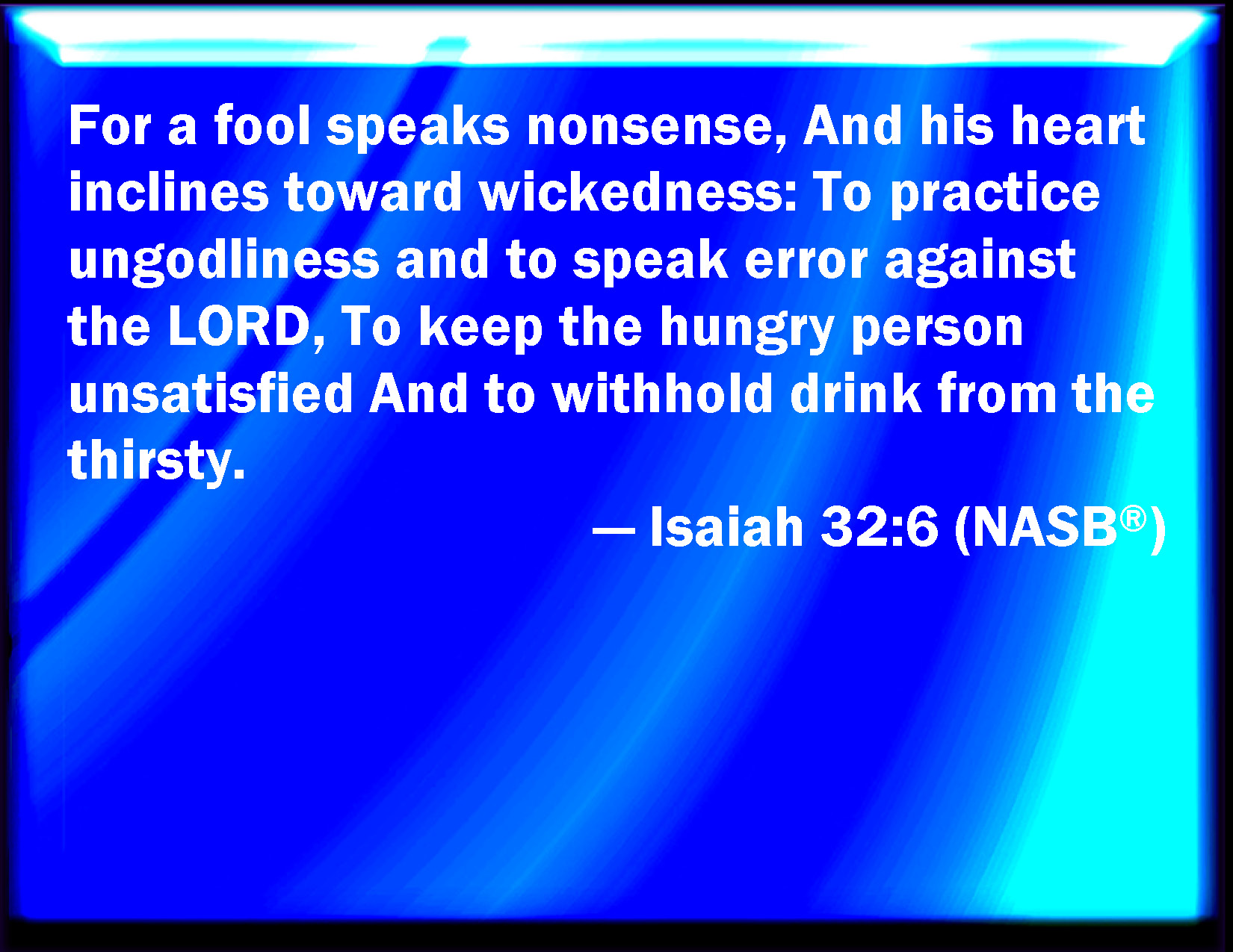 Image result for Isaiah 32:6