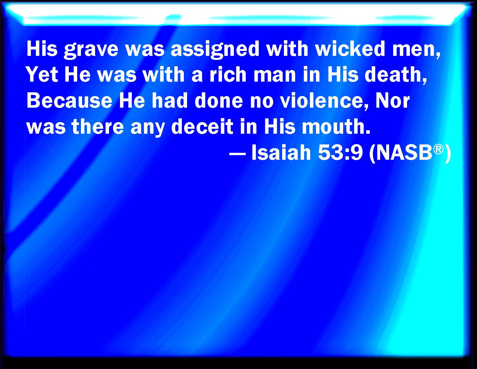 Image result for Isaiah 53:9 kjv