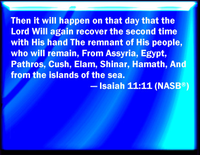 Image result for Isaiah 11:11