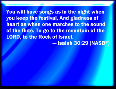 Image result for Ye shall have a song, as in the night when a holy solemnity is kept