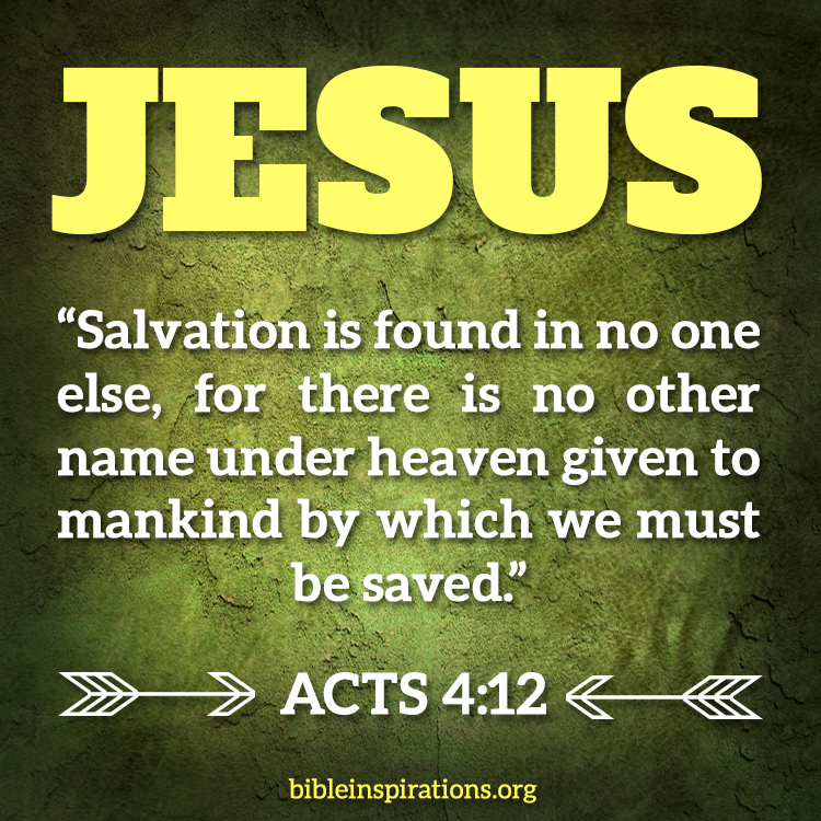 Image result for Salvation is found in Jesus
