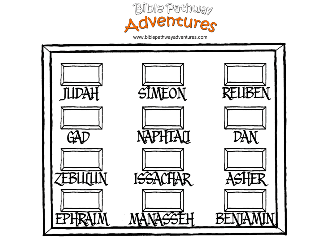 Bible Coloring Page Twelve Tribes Of Israel