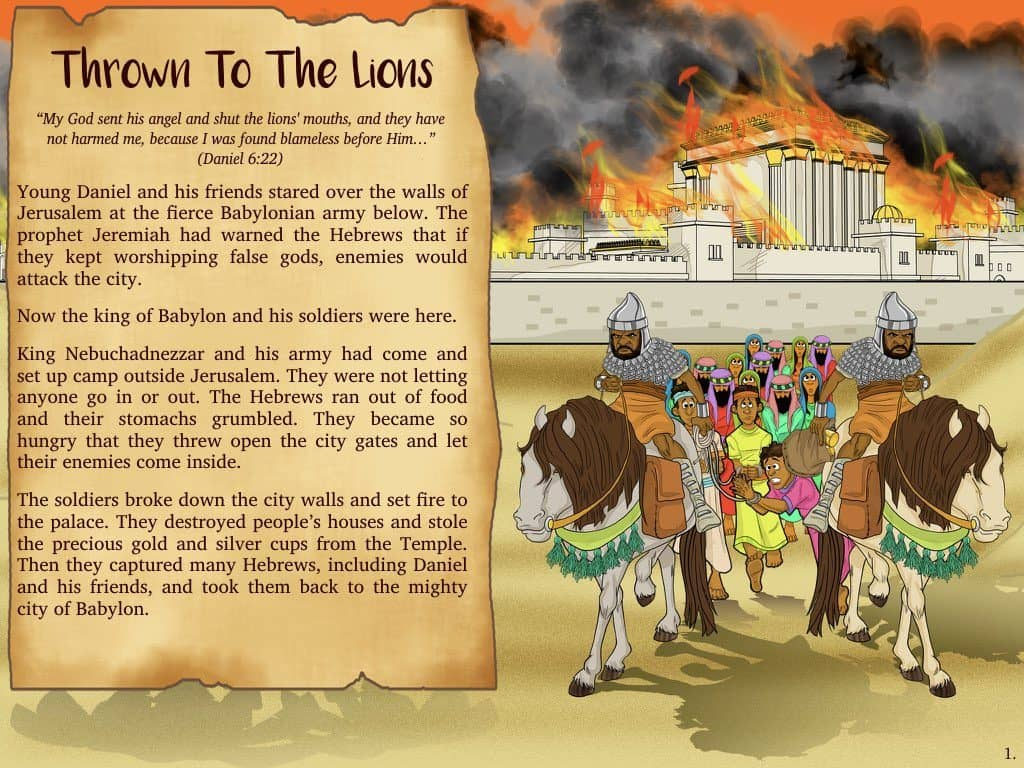 Daniel Bible Story Daniel And The Lion S Den