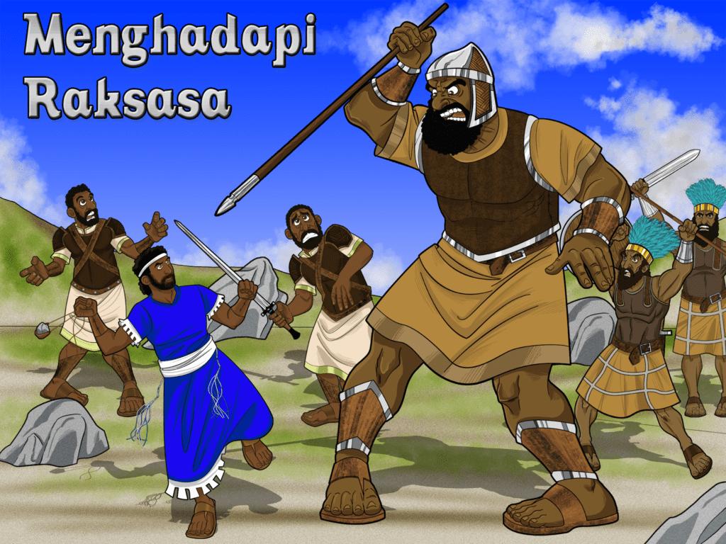 Cerita Alkitab Anak Daud dan Goliat  Facing the Giant