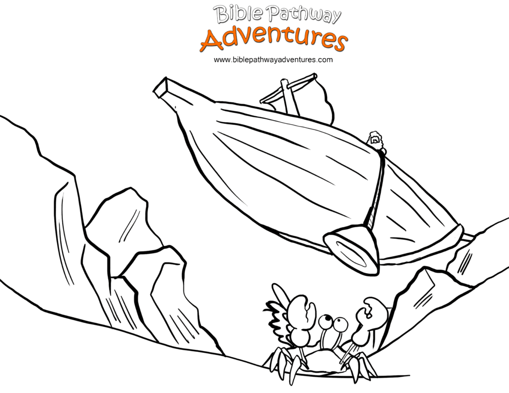 Bible Coloring Page Paul Sails To Rome