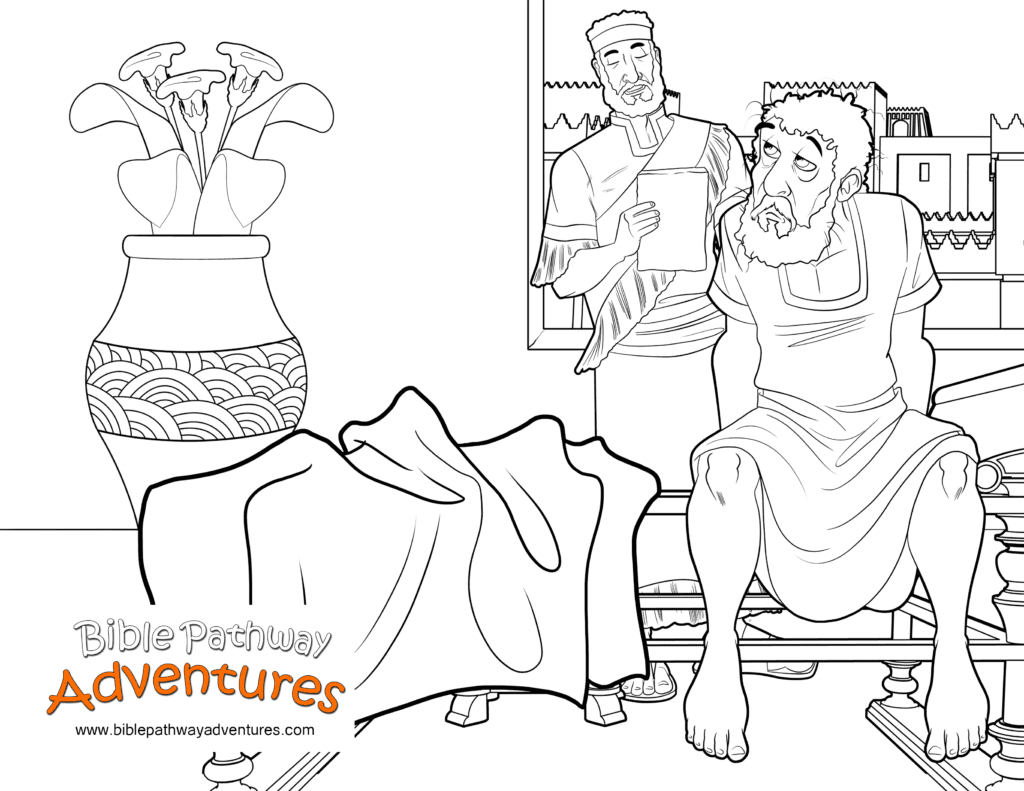 Bible Coloring Page King Of Persia S Sleepless Night