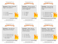 Fiery Furnace Task Cards  Bible Pathway Adventures