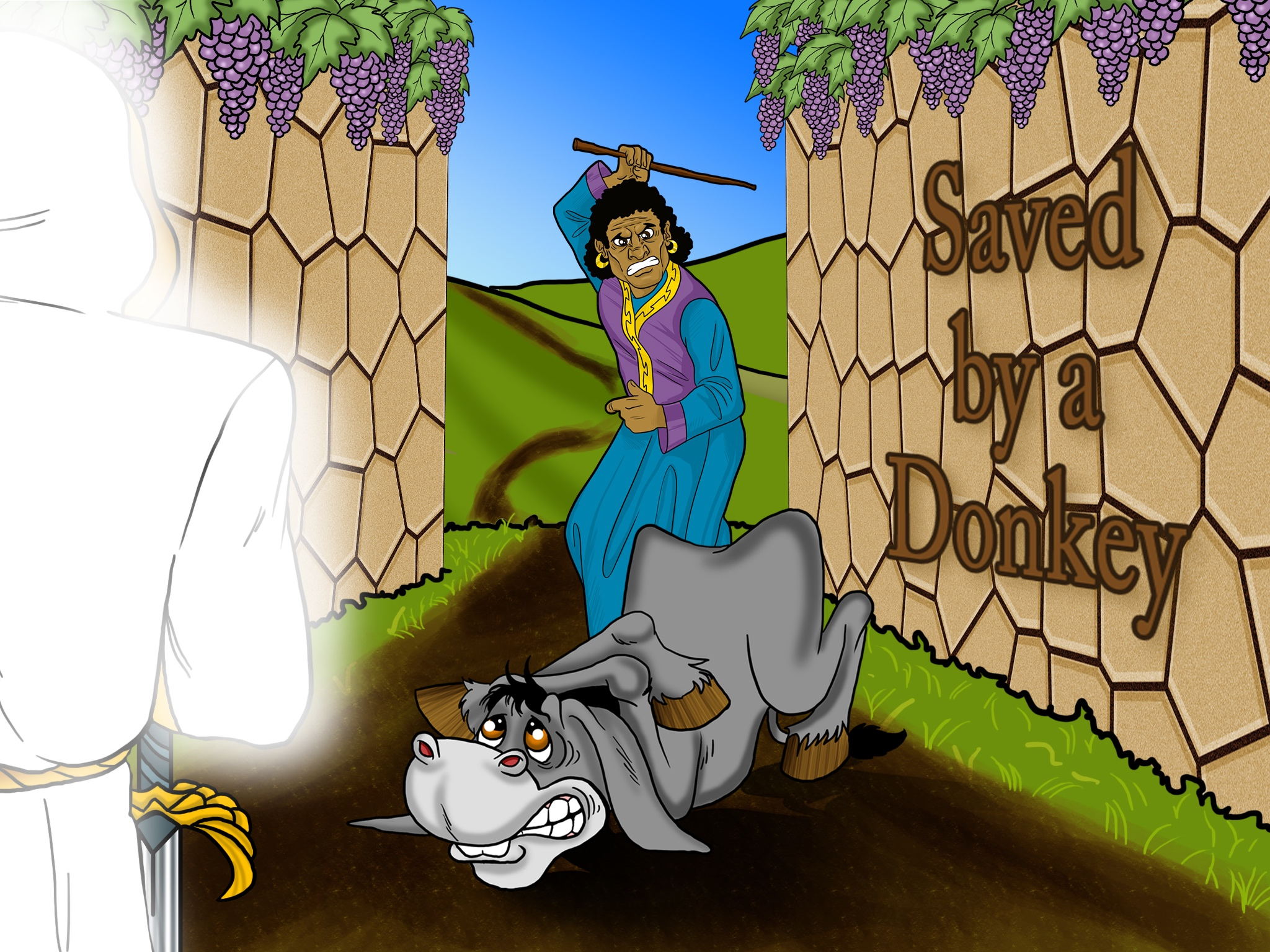 Video Bible Story Saved By A Donkey