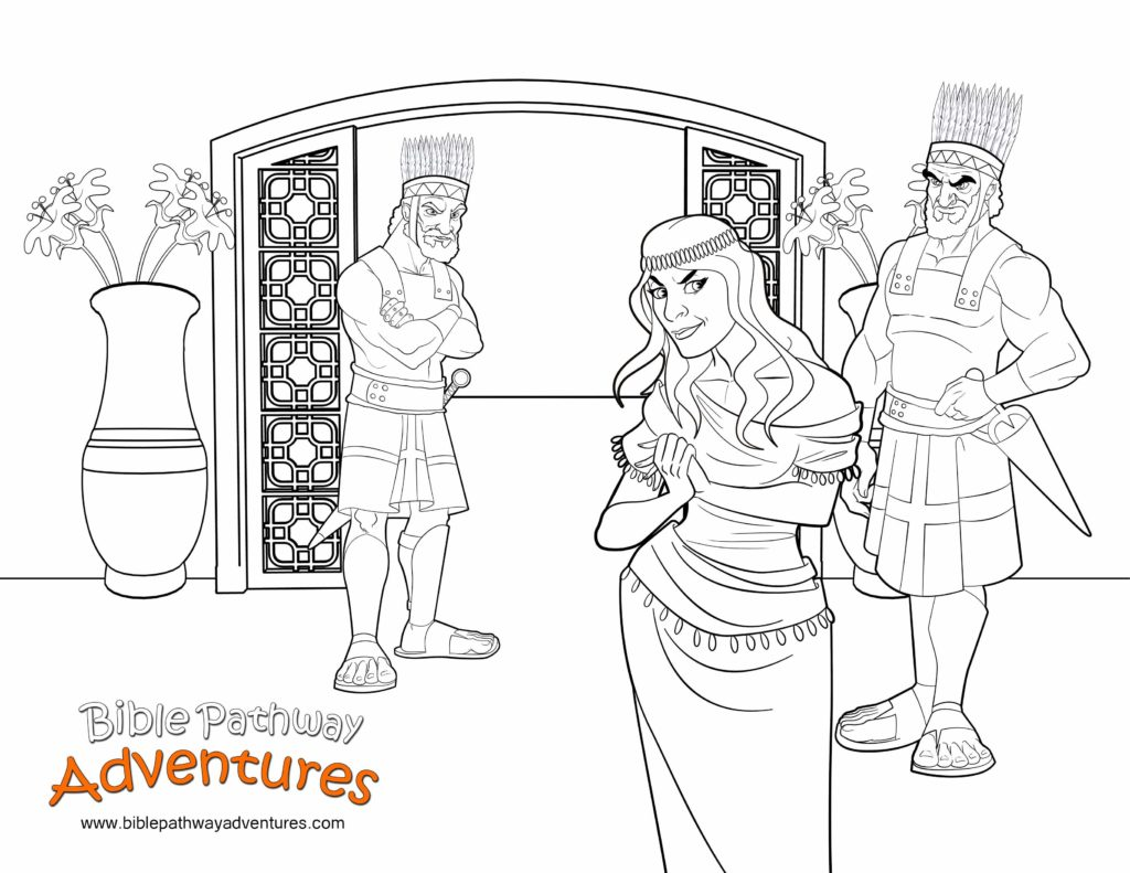 Bible Coloring Page Delilah And The Philistines