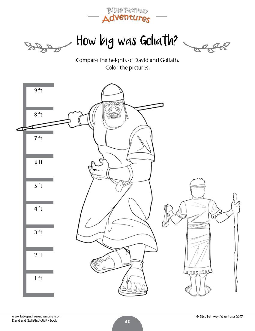 David & Goliath Activity Book: Kids Ages 6-12