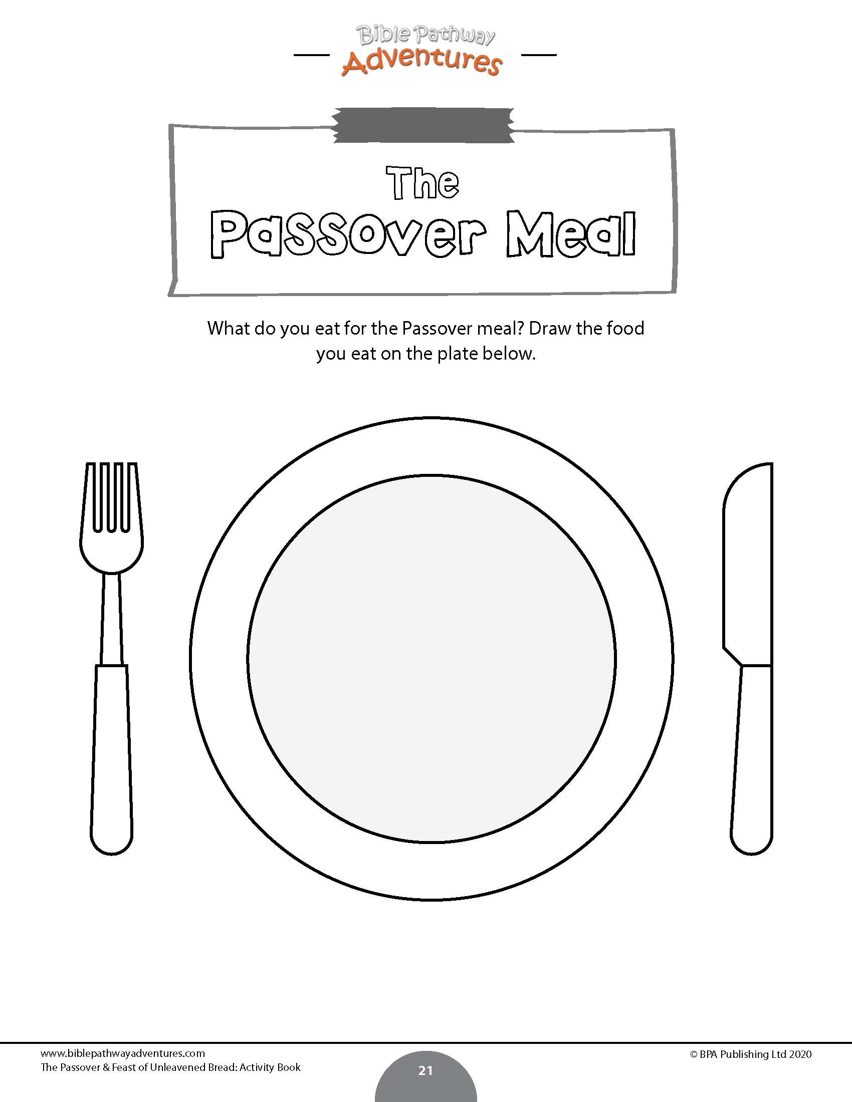 The Passover And Feast Of Unleavened Bread Activity Book