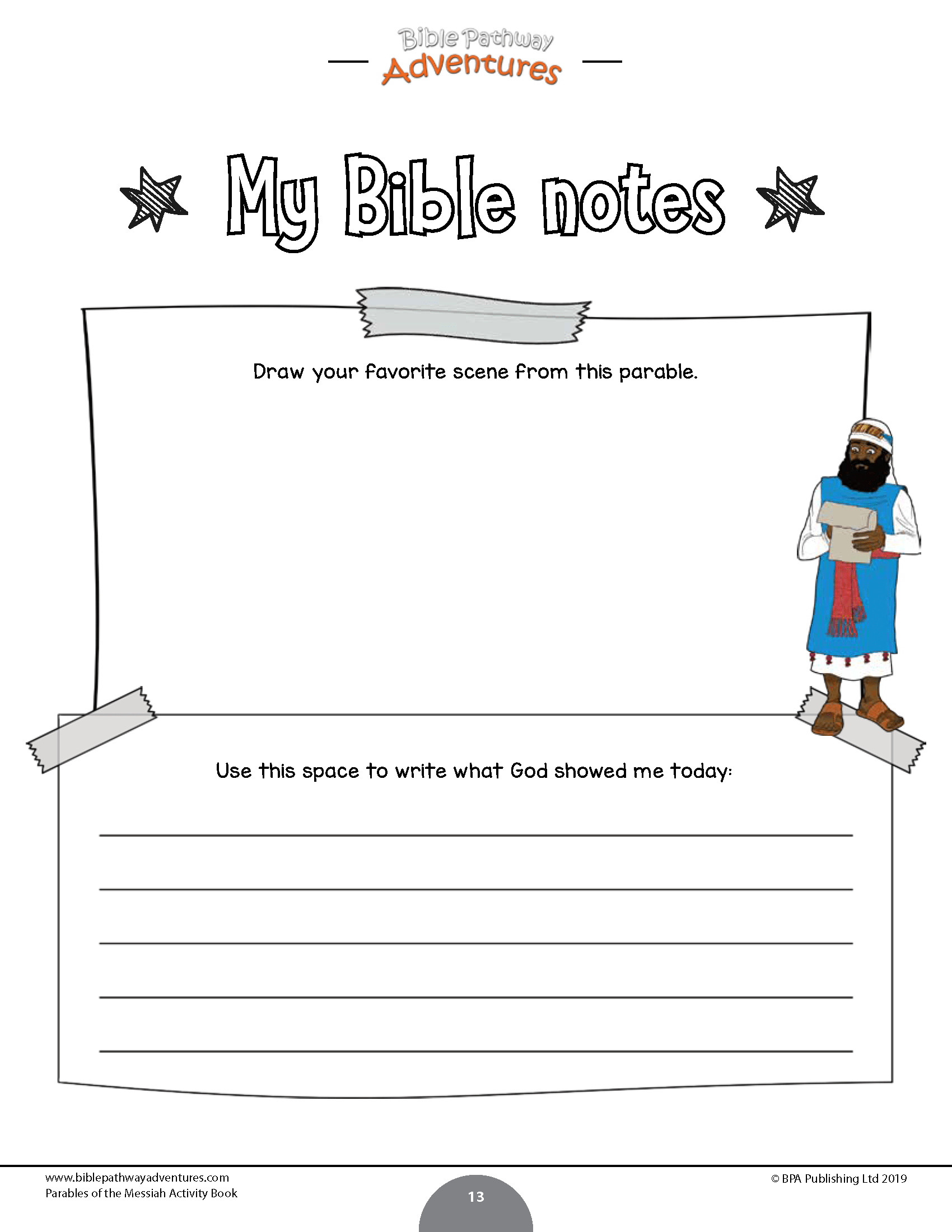 Parables Of The Messiah Activity Book Bible Pathway