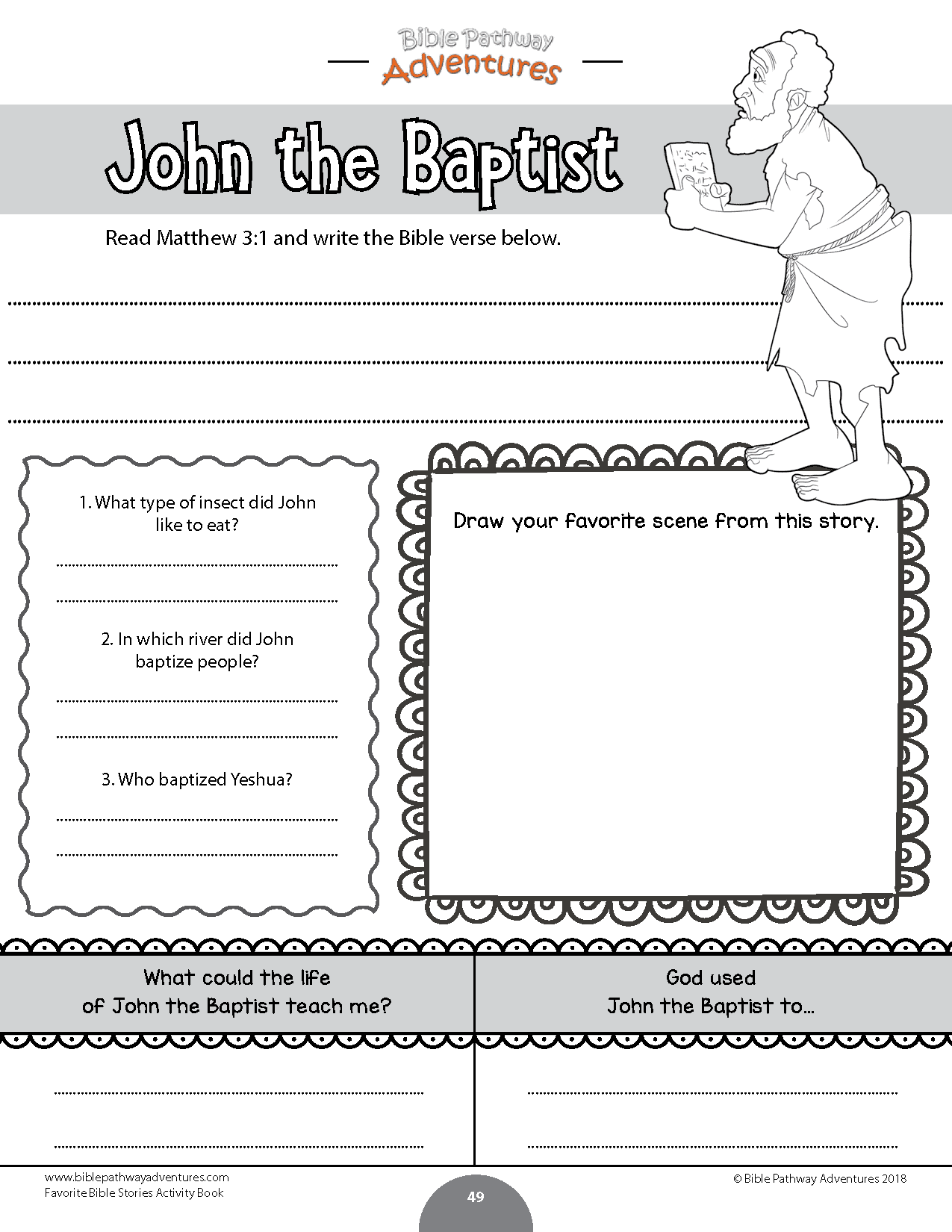 Favorite Bible Stories Coloring Activity Book Bible