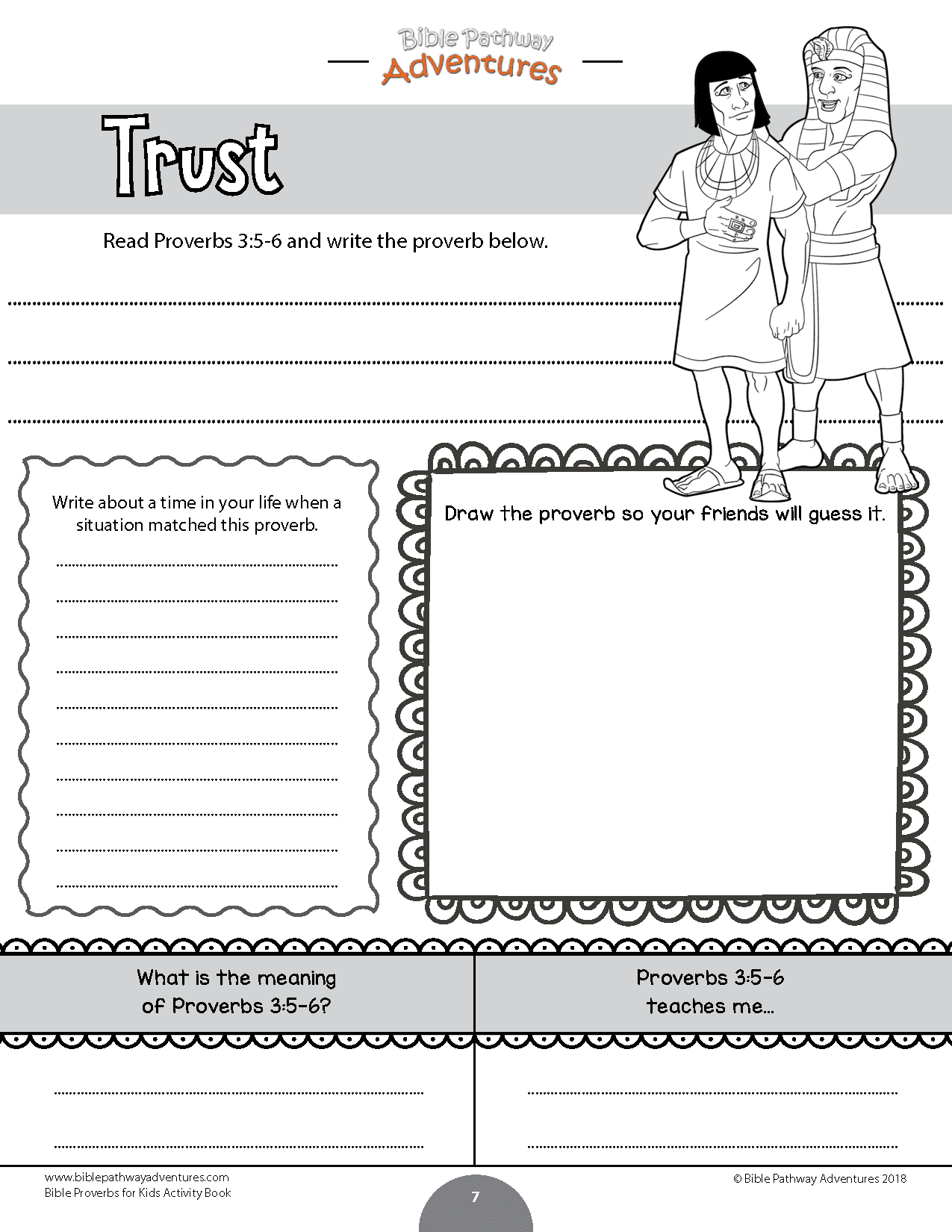 Bible Proverbs For Kids Coloring Activity Book Bible