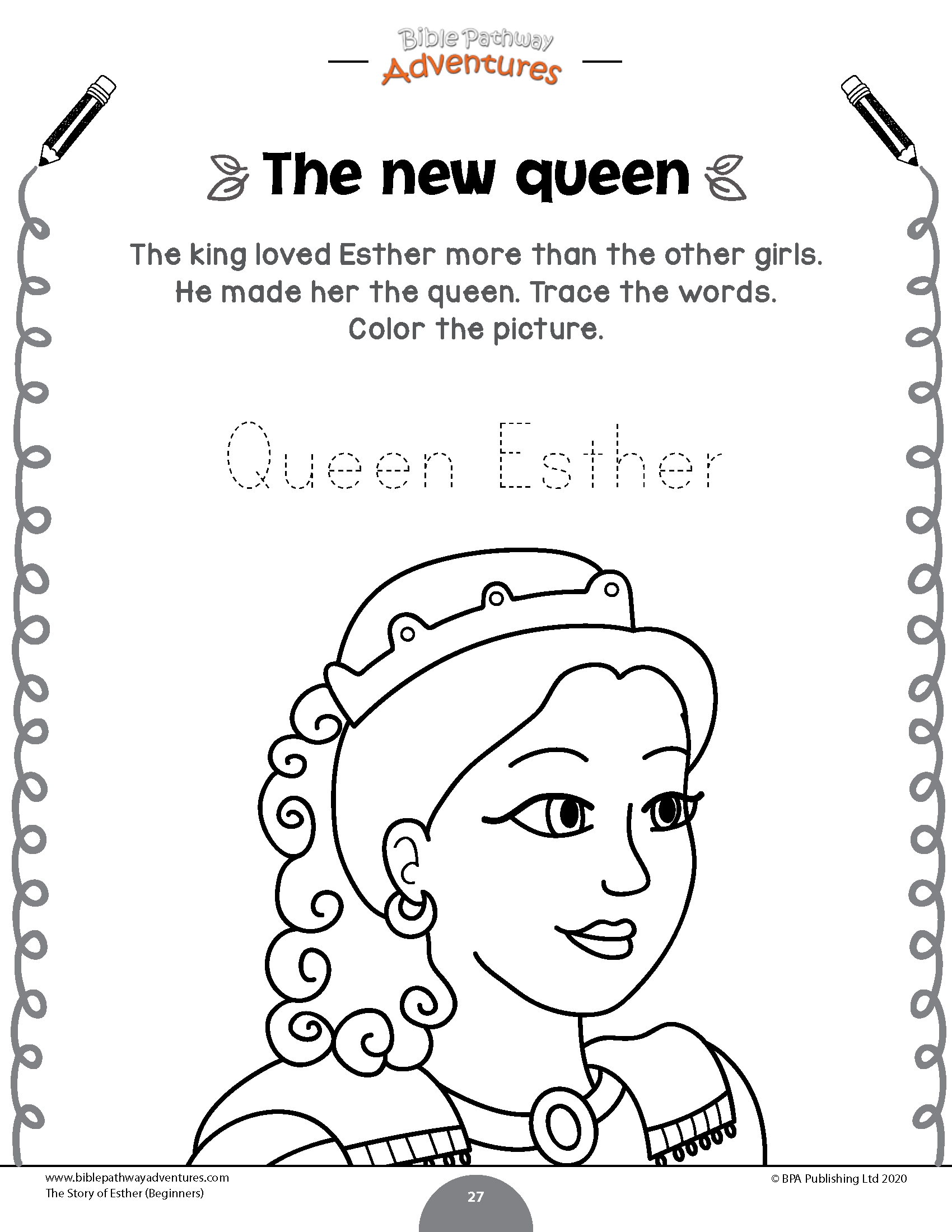 The Story Of Esther Activity Book Beginners Bible